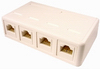 Cat6 Quad Surface Mount Jack