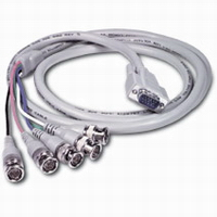 10ft Premium HD15M to RGBHV (5-BNC) Male Video Cable