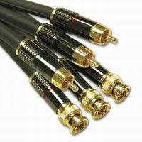 50ft SonicWave RCA to BNC Component Video Cable