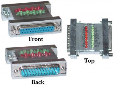 DB25 Male to DB25 Female CLASSYTEK RS-232 Jumper Box